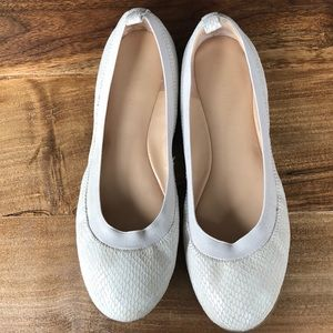 Banana Republic Leather Silver Ballet Flats 9